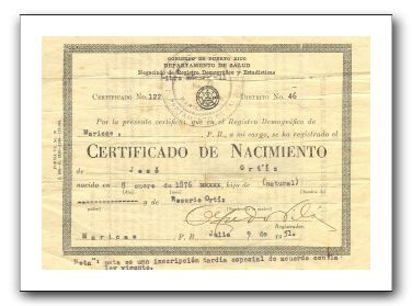 birth certificates in puerto rico