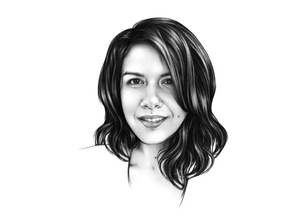 Line drawing of Parisa Tabriz