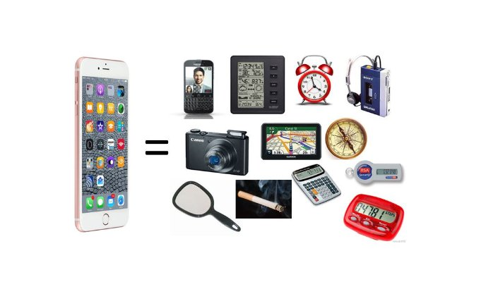 iphone replaces lots of things